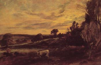 John Constable : Landscape Evening