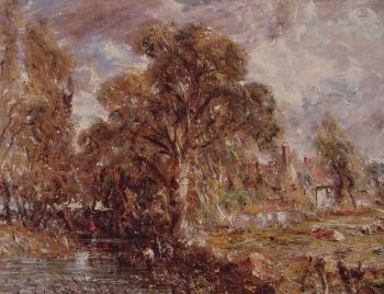 John Constable : Scene on a River
