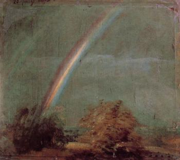 John Constable : Landscape with a Double Rainbow
