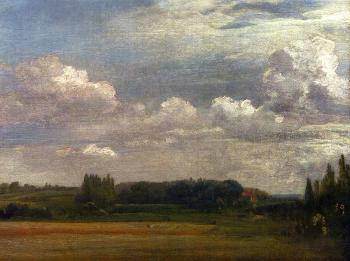 John Constable : View Towards The Rectory, From East Bergholt House