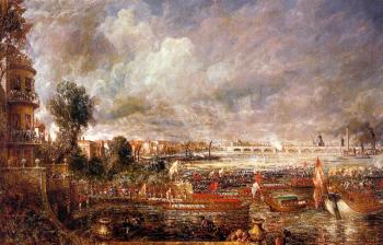 John Constable : The Opening of Waterloo Bridge seen from Whitehall Stairs