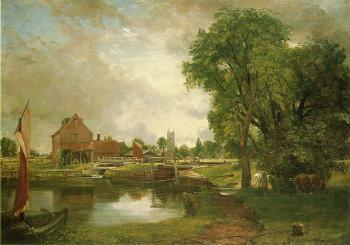 John Constable : Dedham Lock and Mill