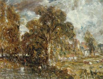 John Constable : On the River Stour