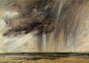 John Constable : Seascape Study with Rain Cloud