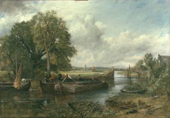 John Constable : A View On The Stour Near Dedham II