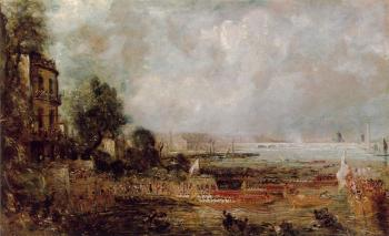 John Constable : The Opening of Waterloo Bridge