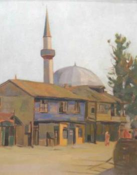 Constantin Artachino : Landscape with mosque