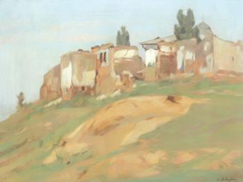 Constantin Artachino : Landscape with ruins