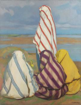 Constantin Artachino : Turk women on the shore of danube