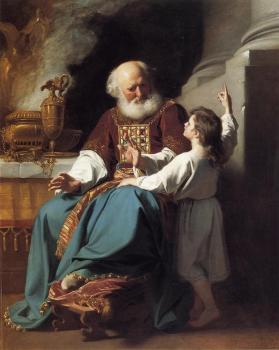 John Singleton Copley : Samuel Reading to Eli the Judgments of God Upon Eli's House