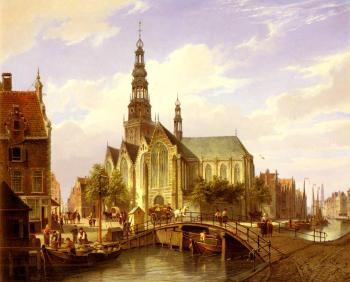 Cornelis Christiaan Dommelshuizen : A Capriccio View Of Amsterdam