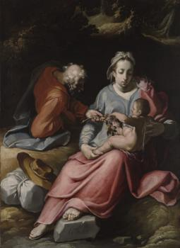 Cornelis Van Haarlem : The Holy Family