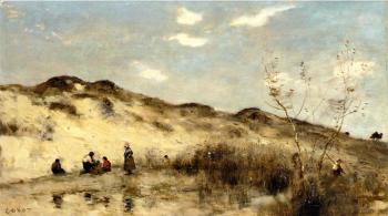 Jean-Baptiste-Camille Corot : A Dune at Dunkirk