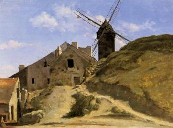 Jean-Baptiste-Camille Corot : A Windmill in Montmartre