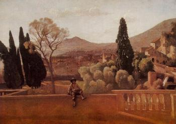 Jean-Baptiste-Camille Corot : Gardens of the Villa d'Este at Tivoli