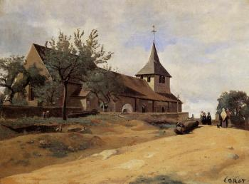 Jean-Baptiste-Camille Corot : The Church at Lormes
