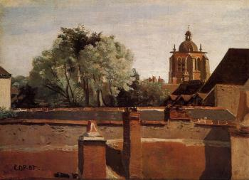 Jean-Baptiste-Camille Corot : Bell Tower of the Church of Saint-Paterne at Orleans