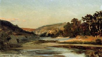 Jean-Baptiste-Camille Corot : The Aqueduct in the Valley