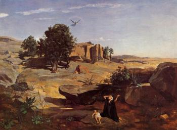 Jean-Baptiste-Camille Corot : Hagar in the Wilderness