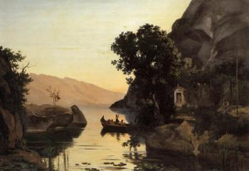 Jean-Baptiste-Camille Corot : View at Riva, Italian Tyrol