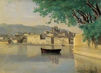 Jean-Baptiste-Camille Corot : Geneva, View of Part of the City