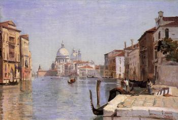 Jean-Baptiste-Camille Corot : Venice, View of Campo della Carita from the Dome of the Salute
