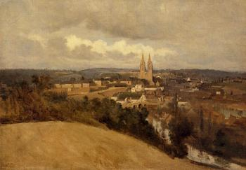 Jean-Baptiste-Camille Corot : View of Saint-Lo
