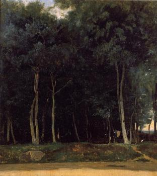 Jean-Baptiste-Camille Corot : Fontainebleau, the Bas-Breau Road
