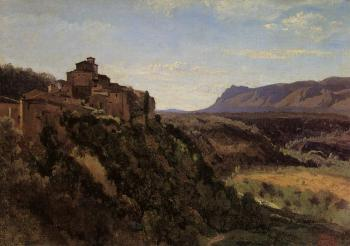 Jean-Baptiste-Camille Corot : Papigno, Buildings Overlooking the Valley