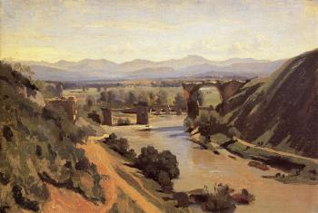 Jean-Baptiste-Camille Corot : The Augustan Bridge at Narni