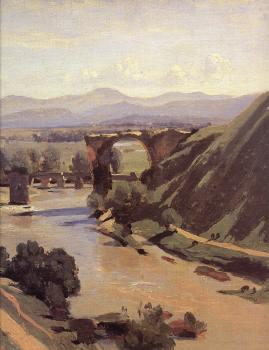 Jean-Baptiste-Camille Corot : The Augustan Bridge at Narni (detail)
