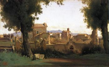 Jean-Baptiste-Camille Corot : View in the Farnese Gardens