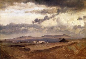 Jean-Baptiste-Camille Corot : View of the Roman Campagna