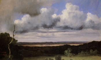 Jean-Baptiste-Camille Corot : Fontainebleau, Storm over the Plains