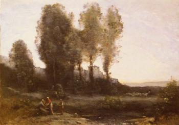Jean-Baptiste-Camille Corot : Le Monastere Derriere Les Arbres(The Monastery Behind the Trees)