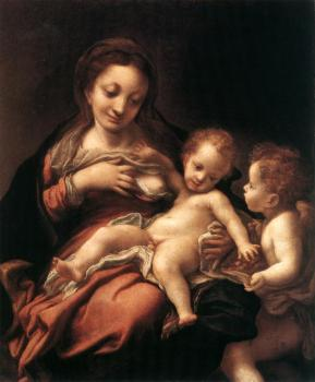 Virgin and Child with an Angel, Madonna del Latte