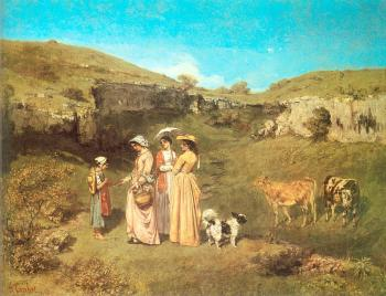 Gustave Courbet : The Young Ladies of the Village