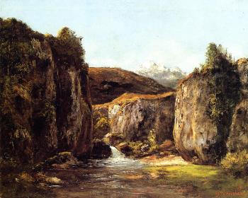 Gustave Courbet : Landscape: The Source among the Rocks of the Doubs