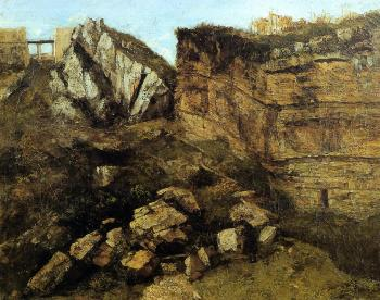 Gustave Courbet : Crumbling Rocks