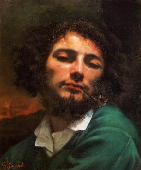 Gustave Courbet : Portrait of the Artist (Man with a Pipe)