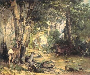 Gustave Courbet : Shelter of the Roe Deer at the Stream of Plaisir-Fontaine, Doubs