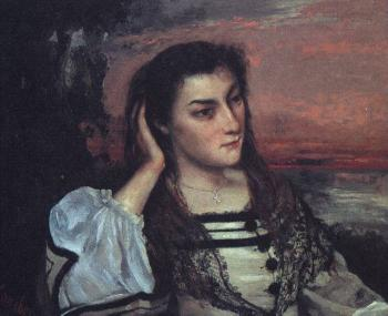 Gustave Courbet : Portrait of Gabrielle Borreau (The Dreamer)