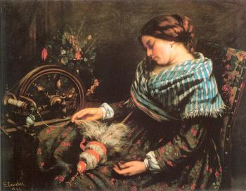 Gustave Courbet : The Sleeping Spinner