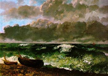 Gustave Courbet : The Stormy Sea (The Wave)