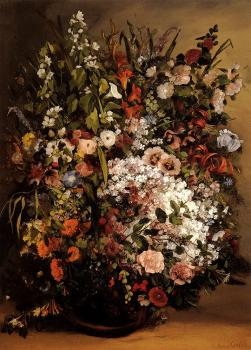 Gustave Courbet : Bouquet of Flowers in a Vase