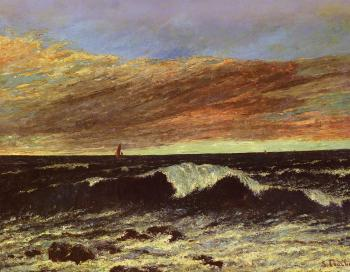 Gustave Courbet : La Vague(The Wave)