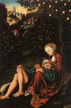 Lucas The Elder Cranach : Samson and Delilah