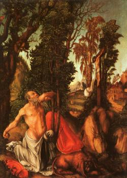 Lucas The Elder Cranach : The Penitence of St. Jerome