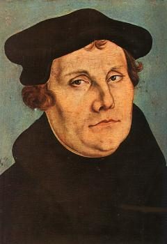 Lucas The Elder Cranach : Diptych with the Portraits of Martin Luther