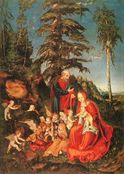 Lucas The Elder Cranach : Rest on the Flight into Egypt